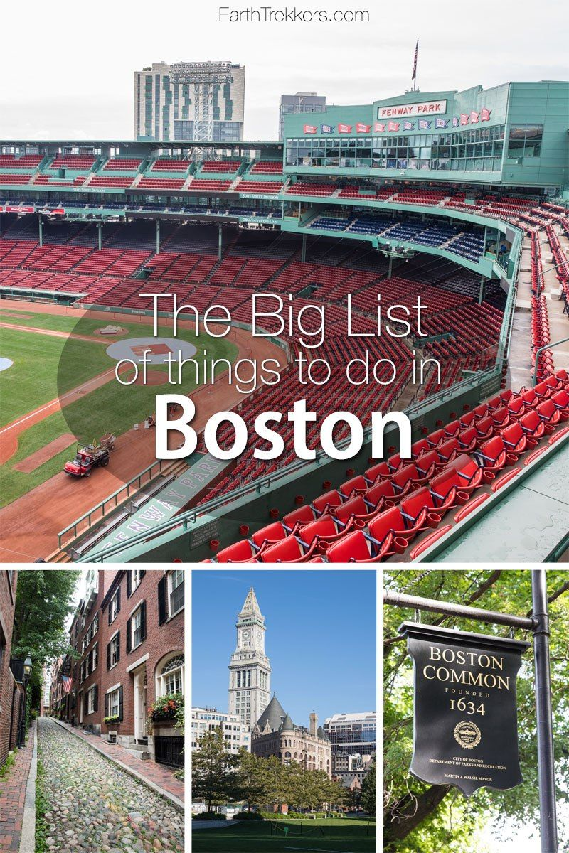 The Big List Of Things To Do In Boston With Images Boston