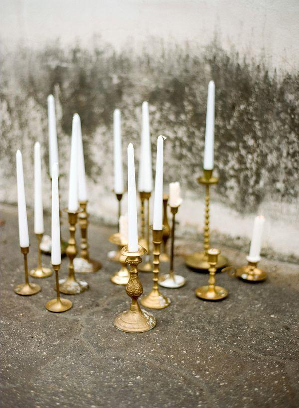 Pinterest Pins Of The Week Chicago Wedding Blog Candle Sticks Wedding Vintage Candles Wedding Centerpieces