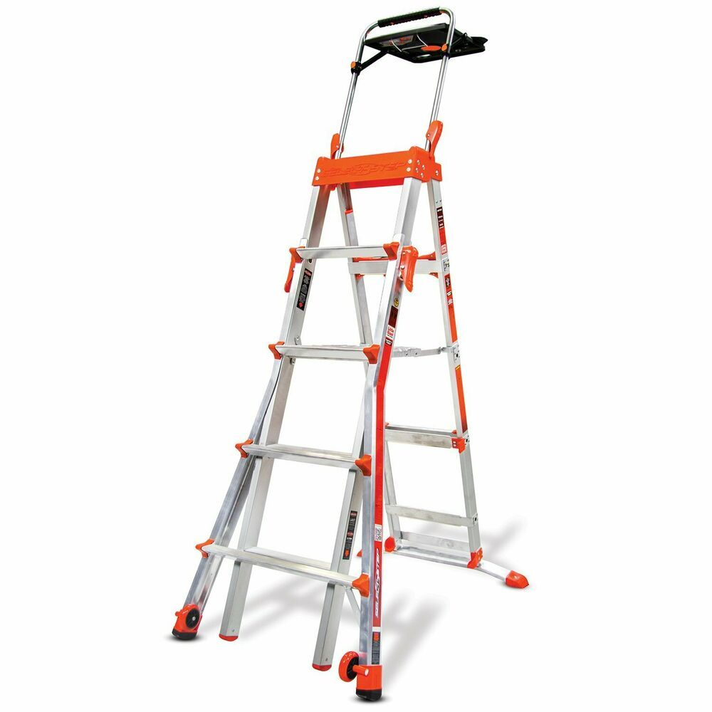 Ebay Sponsored Little Giant Adjustable 5 8 Ft Select Step Ladder Step Ladders Little Giants Ladder