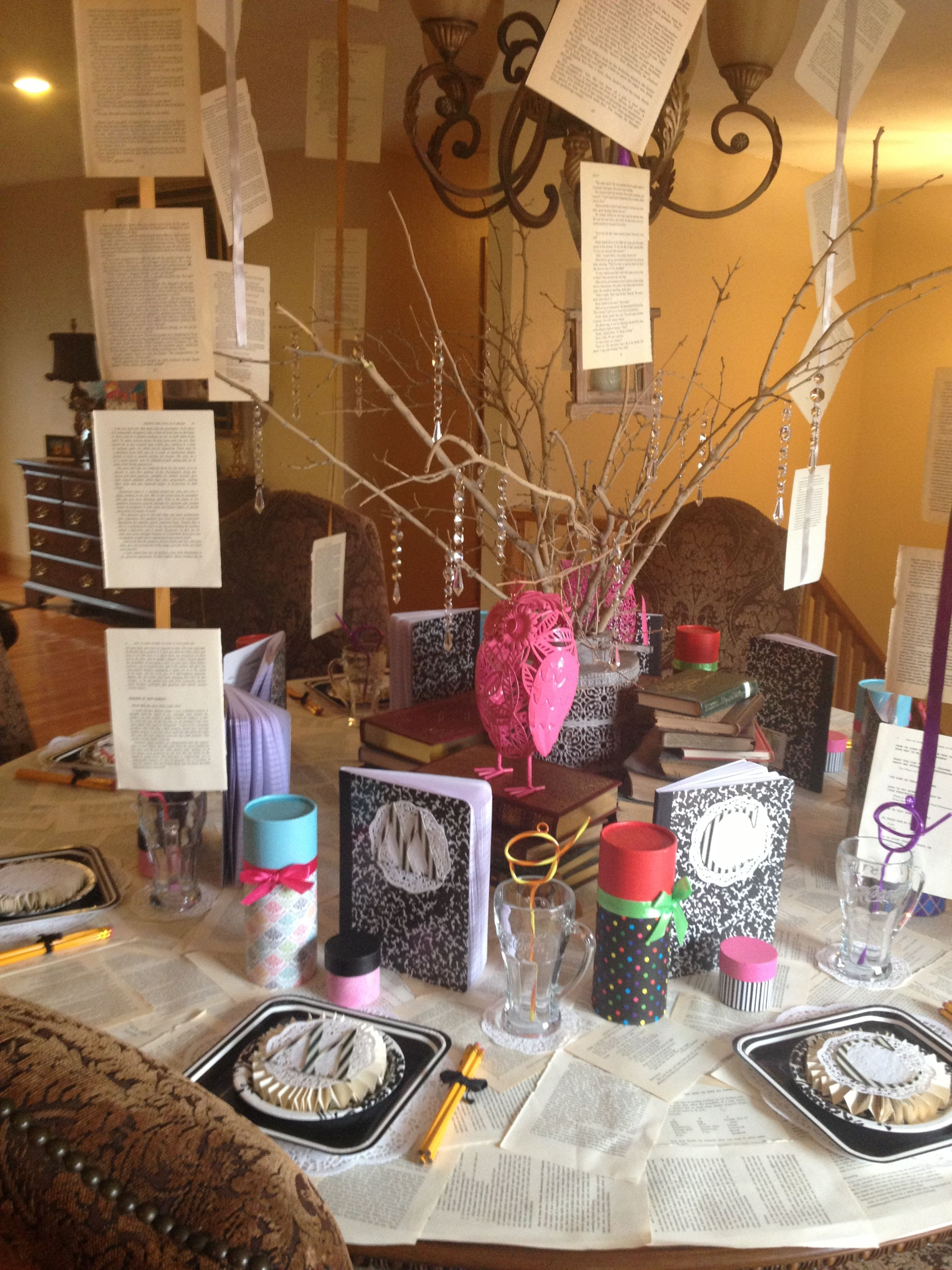 Decorative Ideas For Living Room Small: Clever Decorations For A Book-themed Party. Many Of These