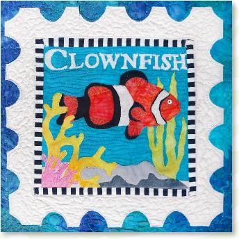 Clownfish Sealife Applique Quilt Patterns Designed By Debra Gabel