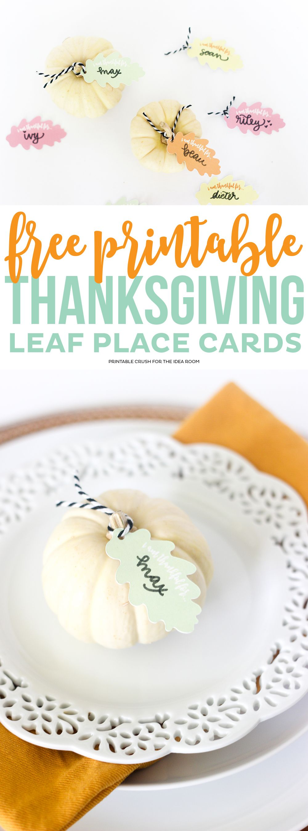 Thanksgiving Place Card | Place card, Thanksgiving and Leaves