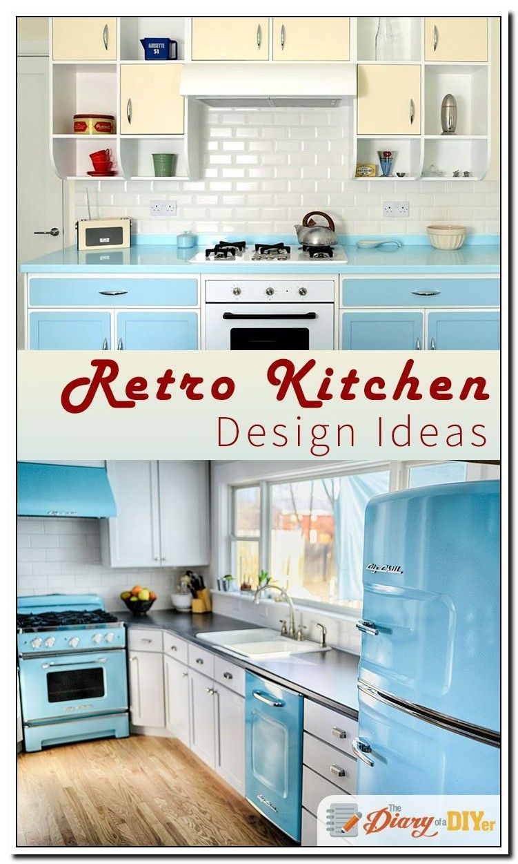 76 Reference Of Modern Vintage Kitchen Decorating Ideas In 2020 Retro Kitchen Modern Retro Kitchen Vintage Kitchen Decor
