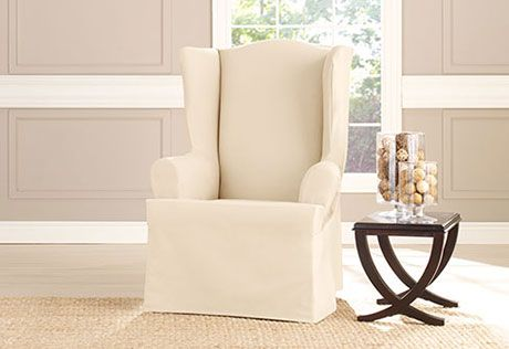Heavyweight Cotton Duck Wing Chair Nursery Slipcovers