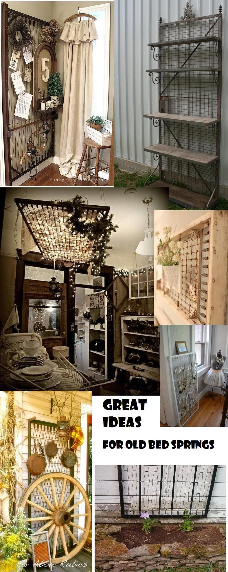 Great Ideas for Old Bed Springs Spring bed frame, Box