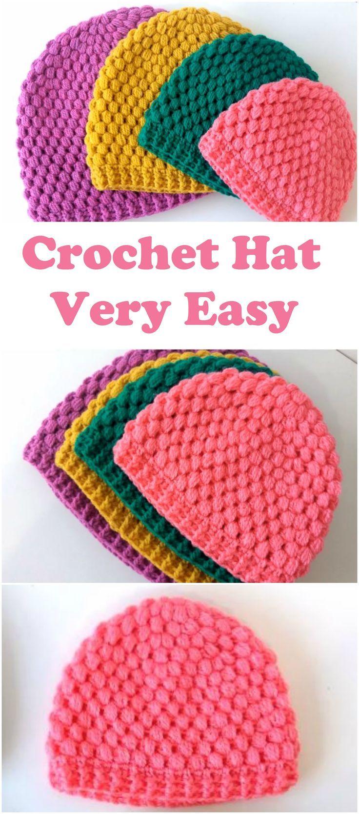 Crochet Bubble Stitch Hat | Crochet - Newborn Hats to Donate ...