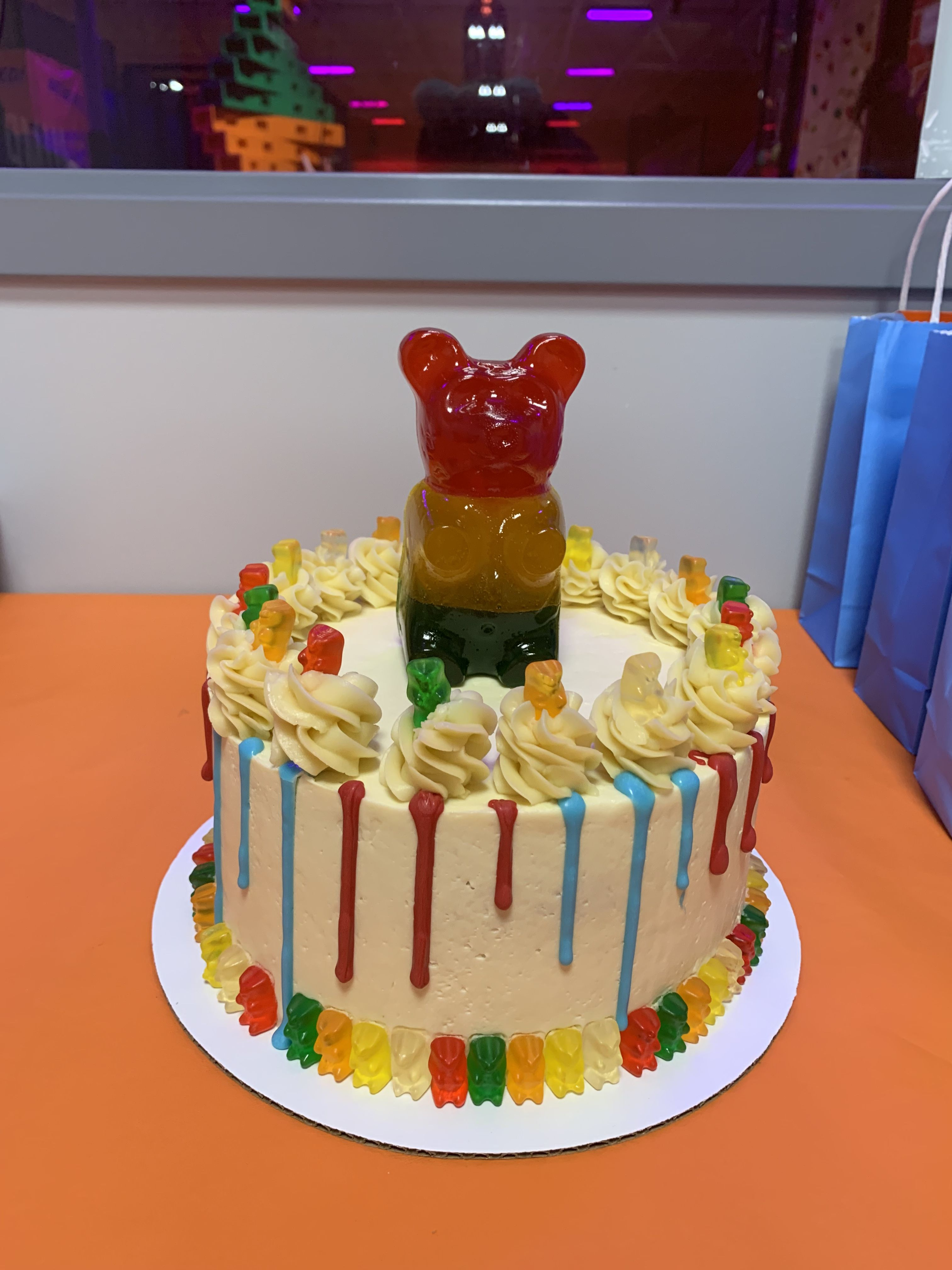 Gummy Bear Cake With Images Gummy Bear Cakes Birthday Cake