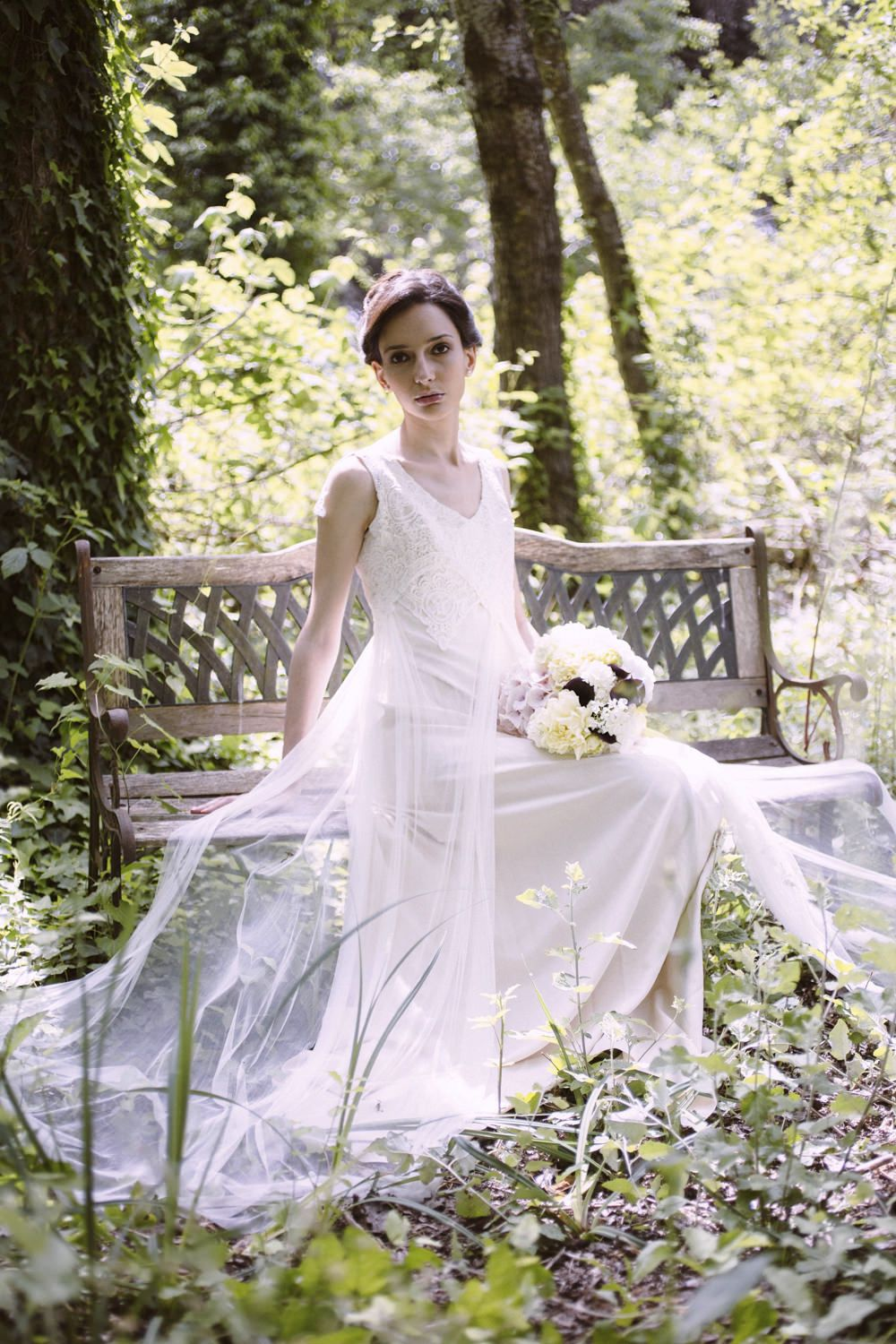 Bride in a Delicate Tulle Gown | Boho Bride | Rustic Italian Wedding Styling | Bohemian Wedding Inspiration Shoot | Styled & Planned by Weddings On Demand | Images by Valeria D'Ovidio | http://www.rockmywedding.co.uk/rustic-italian-styling-with-a-twist/