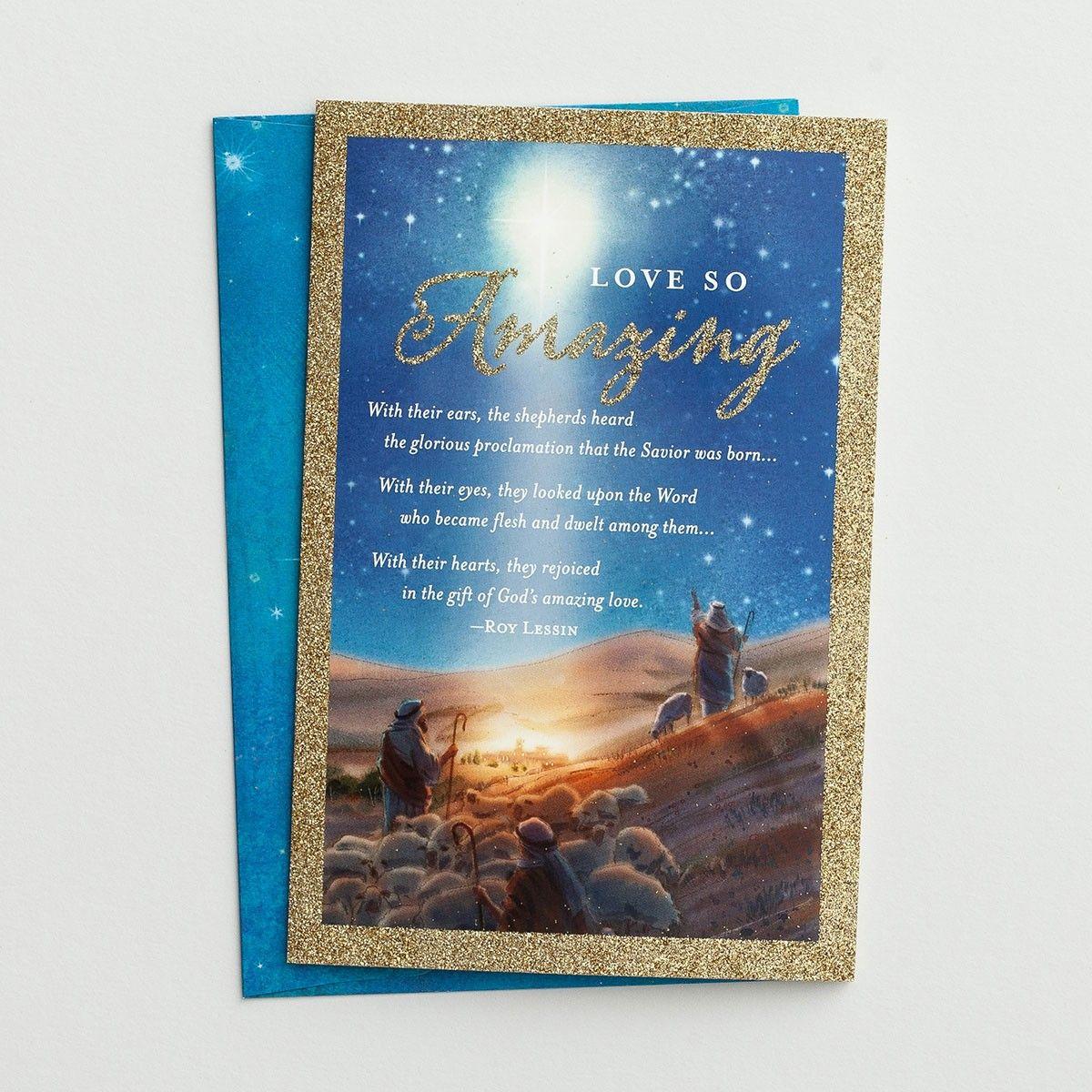 Roy Lessin Love So Amazing 18 Premium Christmas Boxed Cards Kjv