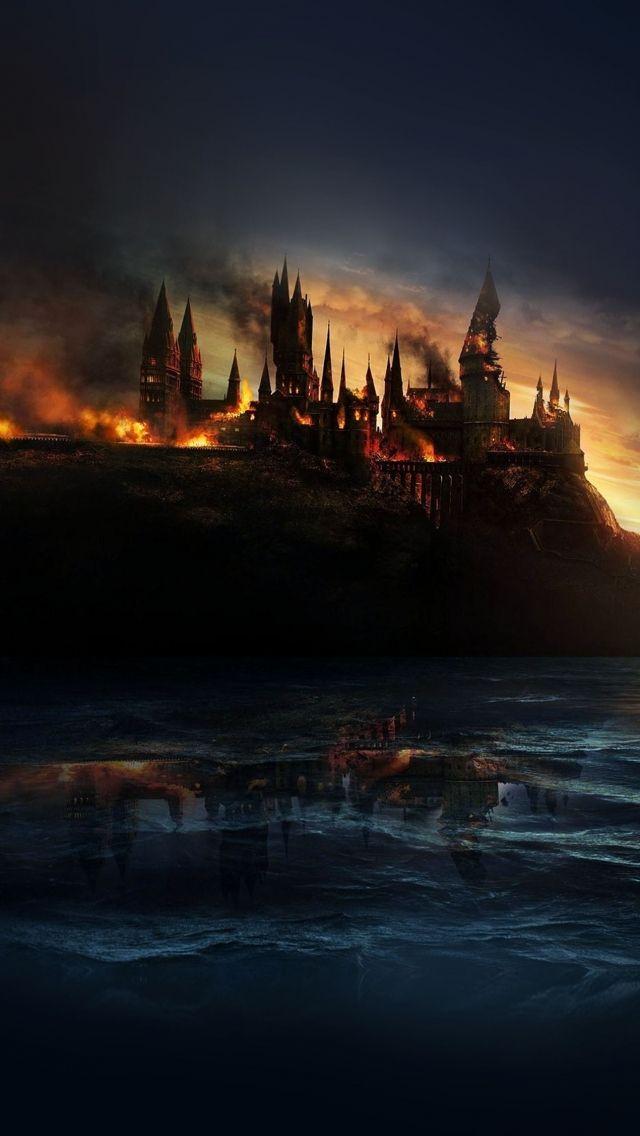Download Castle On Fire Sea Reflection Wallpaper – GetWalls.io