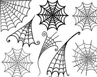 Spider Web Clipart Halloween Clipart Digital Stamps Photoshop Brushes Spider Man Boy Birthday Halloween Clips Halloween Clipart Halloween Embroidery