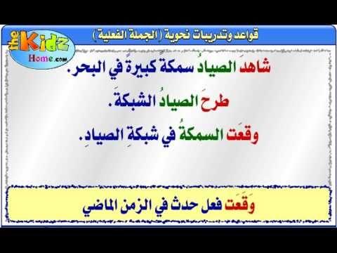 أنشطة في اللغة العربية الجملة الفعلية Arabic Lessons Arabic Books Teaching Videos