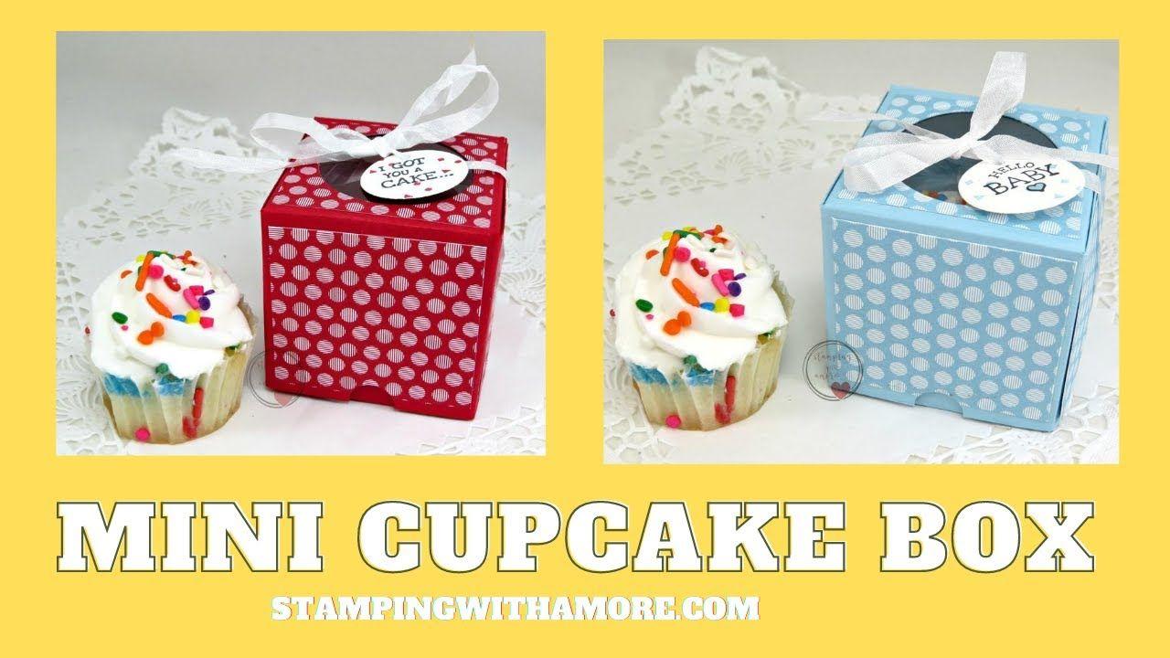 A mini cupcake box tutorial youtube in 2020 cupcake