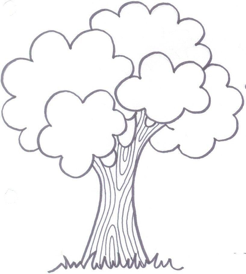 Картинка яблоня раскраска для детей