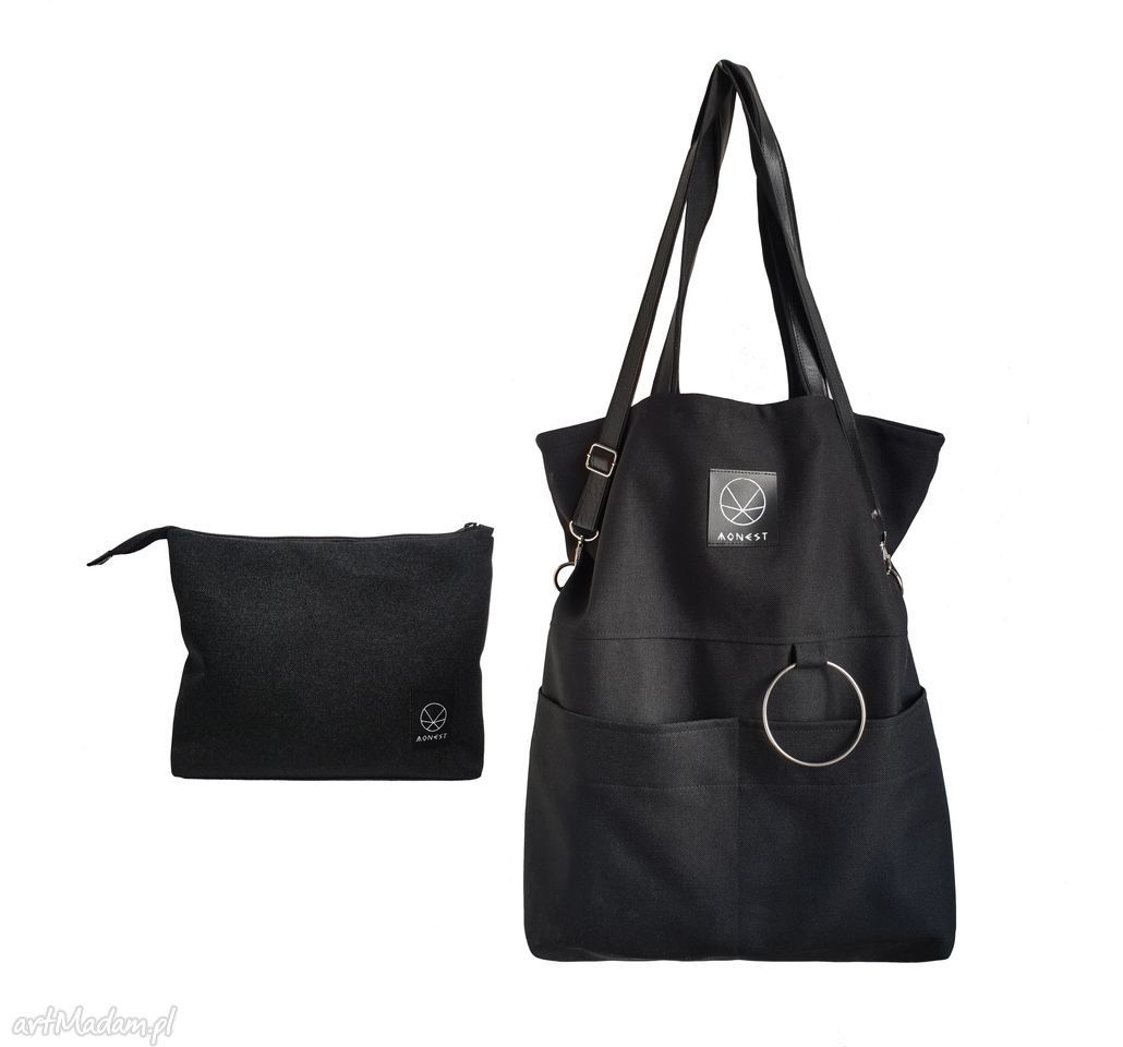fba51125072bf zestaw duża torba kosmetyczka czarna City Noise XL Set