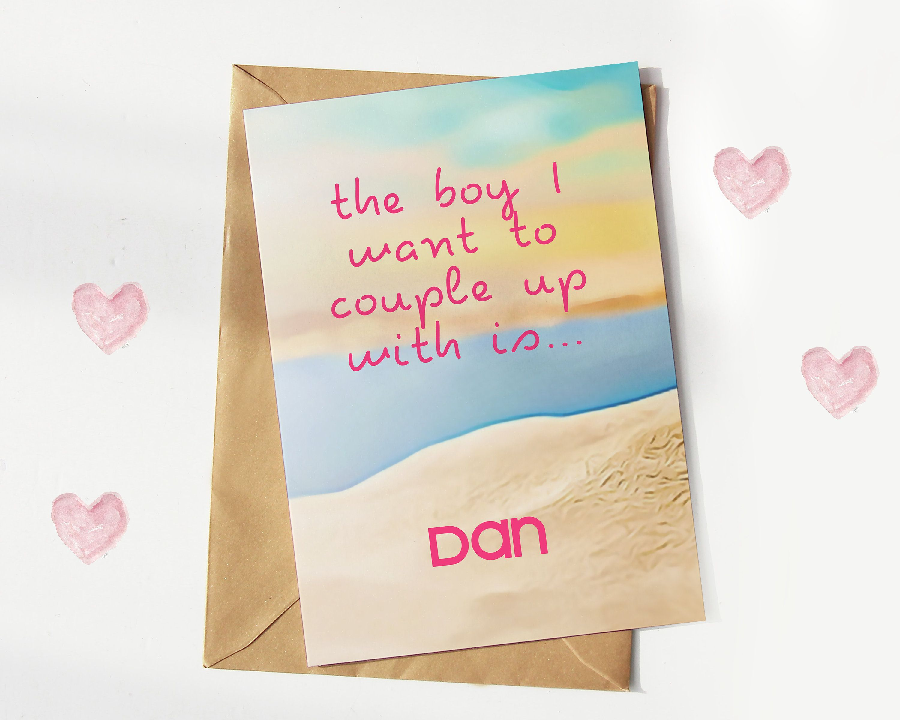 Personalised Love Island Card - Greeting Card - Celebrity Cards