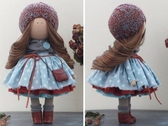 Fabric doll Nursery doll Unique doll Tilda por AnnKirillartPlace