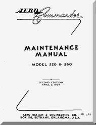 aero commander 520 560 aircraft maintenance manual 1954 aircraft rh pinterest com aircraft maintenance manual definition aircraft maintenance manual subscription