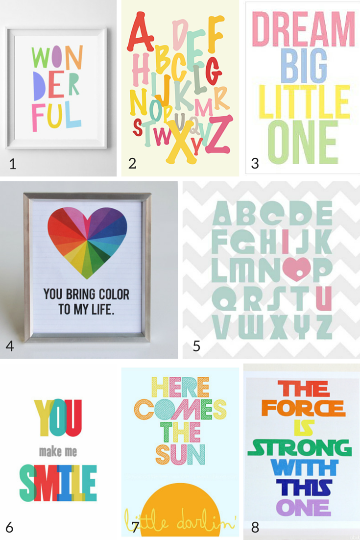 Wall Art For Nursery 100 free nursery wall art printables! | nursery | pinterest | 100