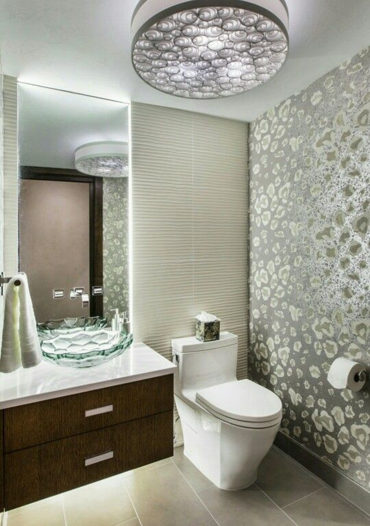 Posh Powder Room •Houzz.com | Bathroom Beauty in the Midst of ...