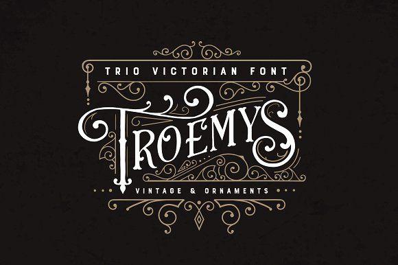 Troemys Font Trio and extras by BlackCatsMedia on @creativemarket