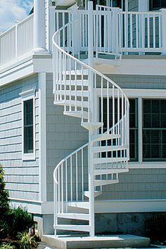 Exterior Staircase | Arts & Crafts Home Restoration | Pinterest ...