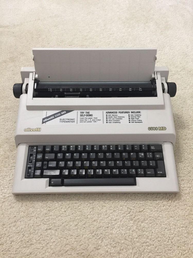 Vtg Olivetti 6500 Md Vintage Portable Electronic Vintage