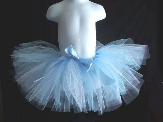 Ice Princess Toddler Tutu Pale Blue and White by LollyBopBoutique, $20.00