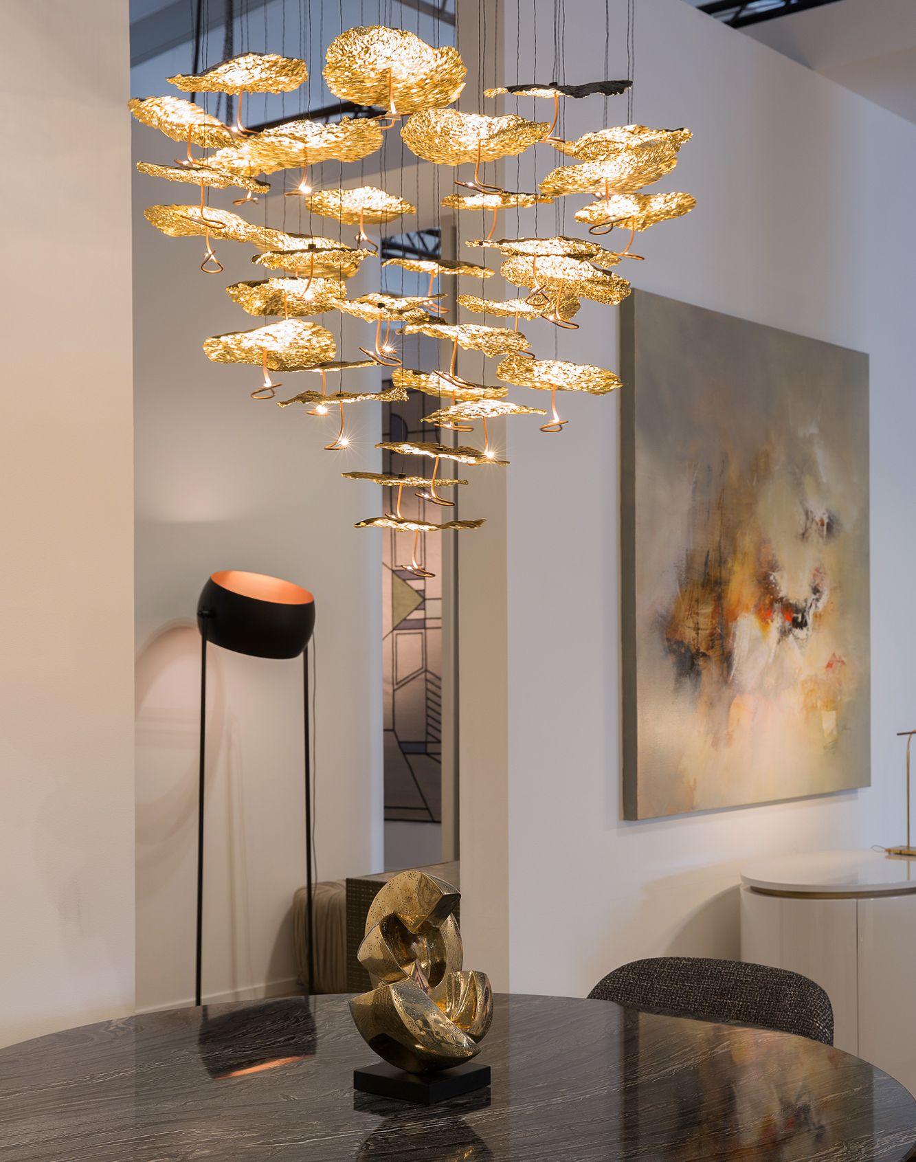 New Modern Chandelier Simple Living Room Model Restaurant Lamp Study Hotel Crystal Lamp Led Stainless Steel Chandelier Complete Range Of Articles Chandeliers Lights & Lighting