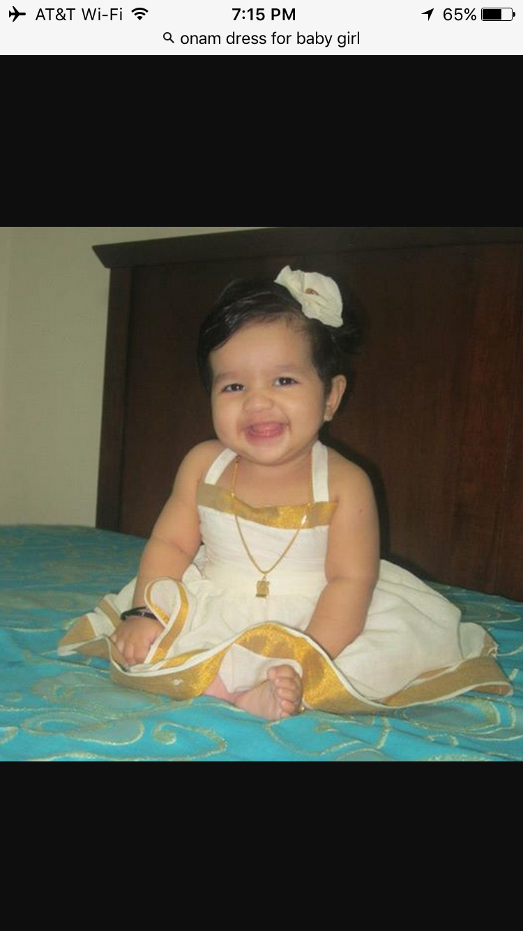 Baptism dress for baby girl in kerala