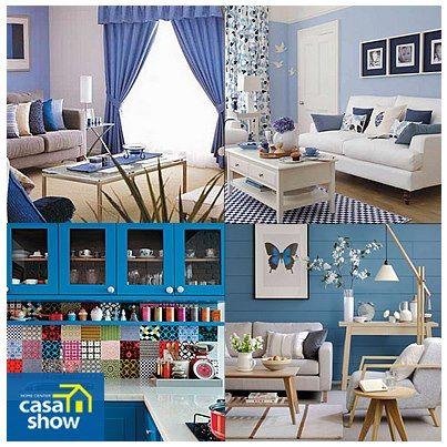 Inove com criatividade e muito estilo! Aposte no azul!    Confira no Blog inspirações de decoração com azul de várias tonalidades e encontre uma ideia que combina com você!     http://blog.casashow.com.br/inove-com-criatividade-e-muito-azul/