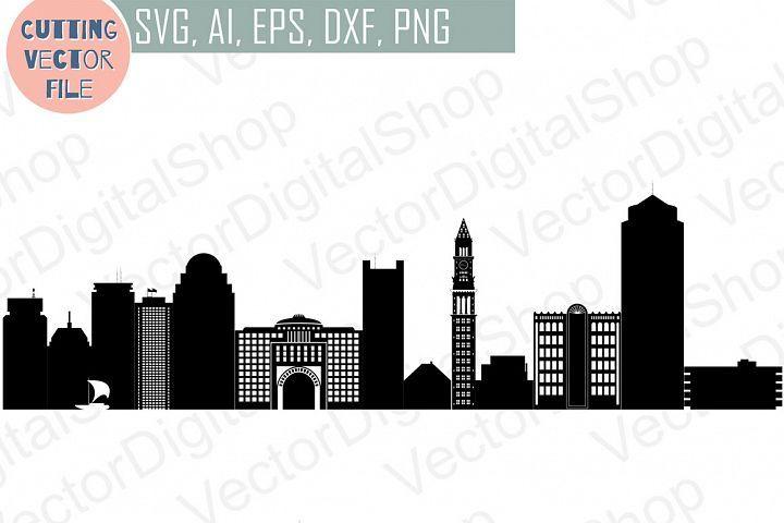Boston Skyline Vector Massachusetts Usa City Svg Jpg Png Dwg Cdr Eps Ai From Designbundles Net Svg Infographic Design Free Boston Skyline