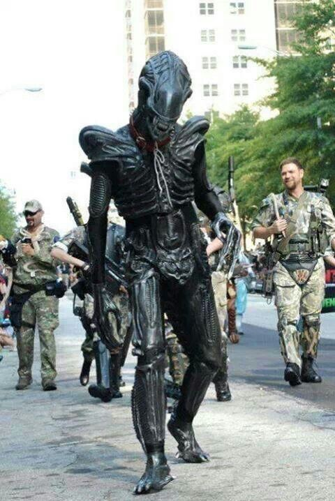 An Alien Cosplay.  sc 1 st  Pinterest & An Alien Cosplay. | Costumes u0026 Inspiration | Pinterest | Aliens and ...
