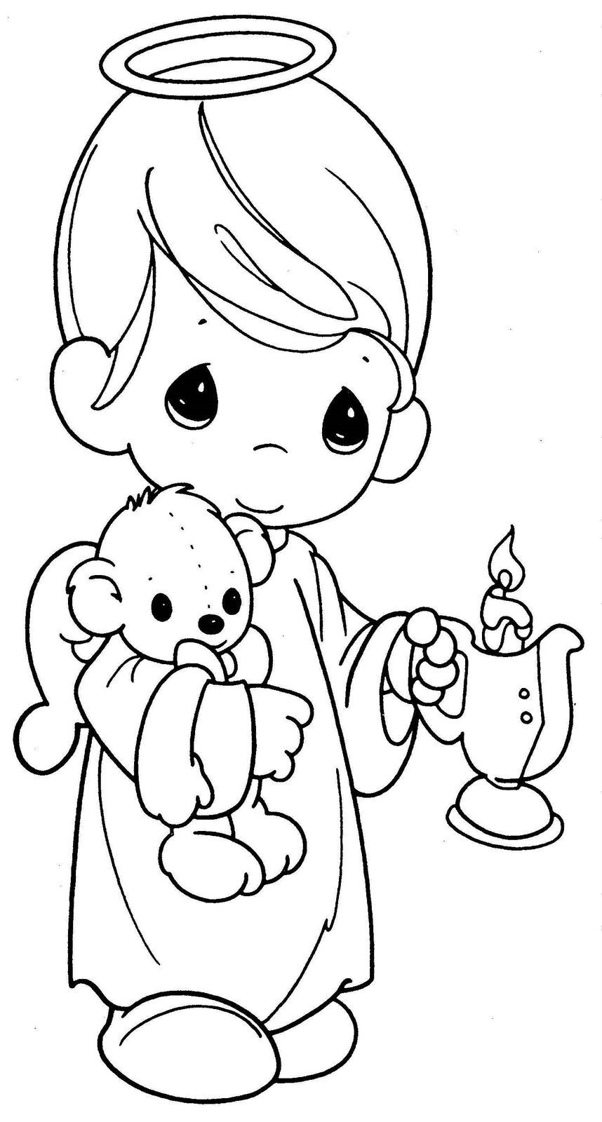 precious moments angels coloring pages para colorear de