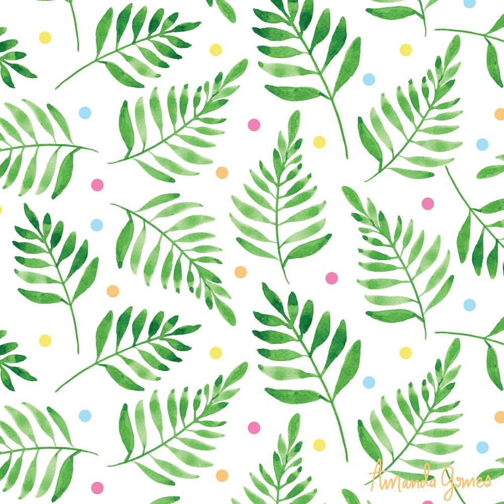 Confetti Leaves Pattern By Amanda Gomes Delighted Creative Co