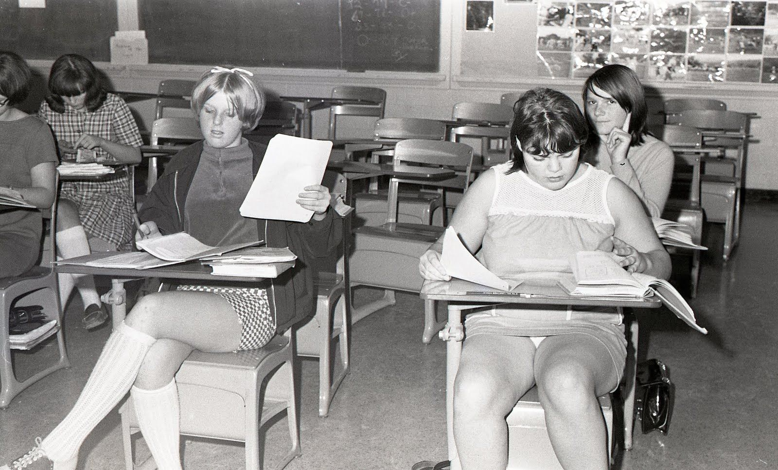 Absolutely agree Teachers in mini skirts sitting still that?