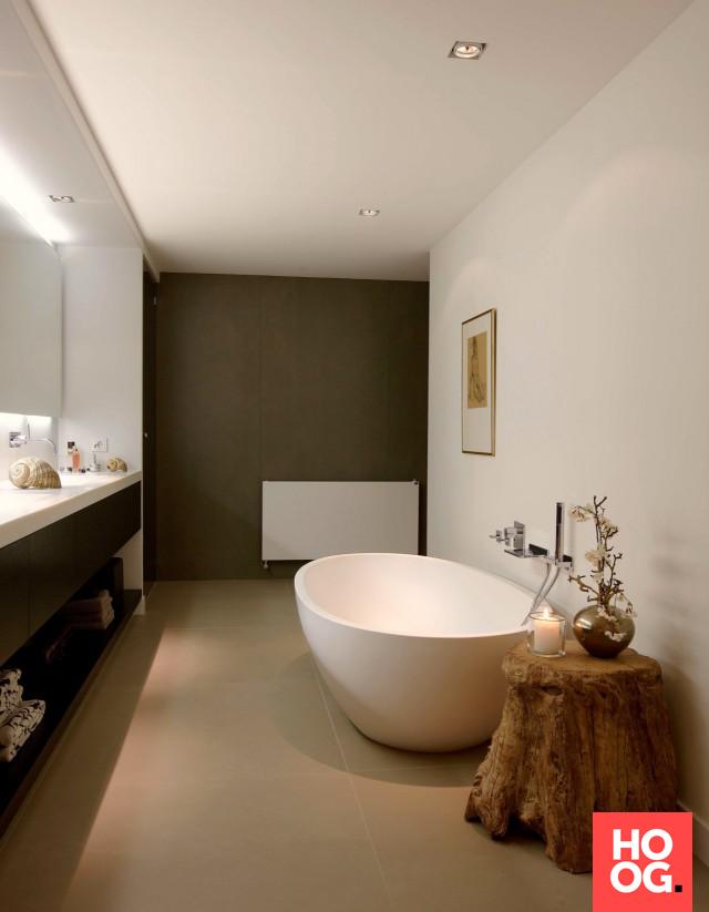 Badkamer ontwerp met luxe badkuip   badkamer ideeën   design ...