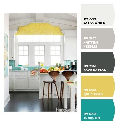 Bright And Sunny Kitchen Palette Paint Colors From Chip It By