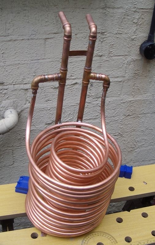 Homebrew Wort Cooler Twin Coil Immersion Type Home Brewing