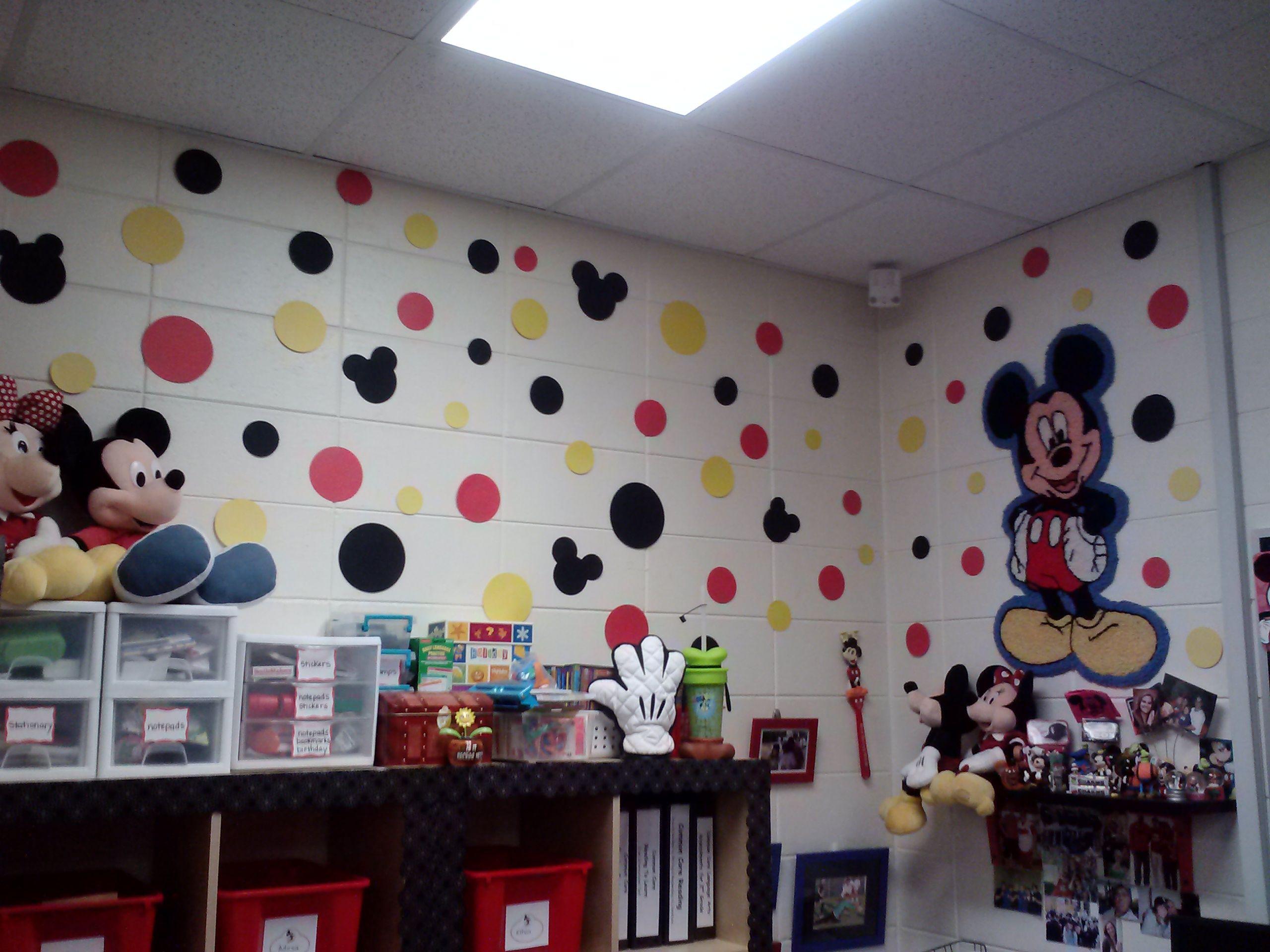 Mickey Classroom Decor : Polka dot mickey wall decor this is a little too busy