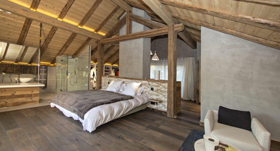 Chambre Chalet Vieux Bois Renove Recherche Google Chambre Montagne