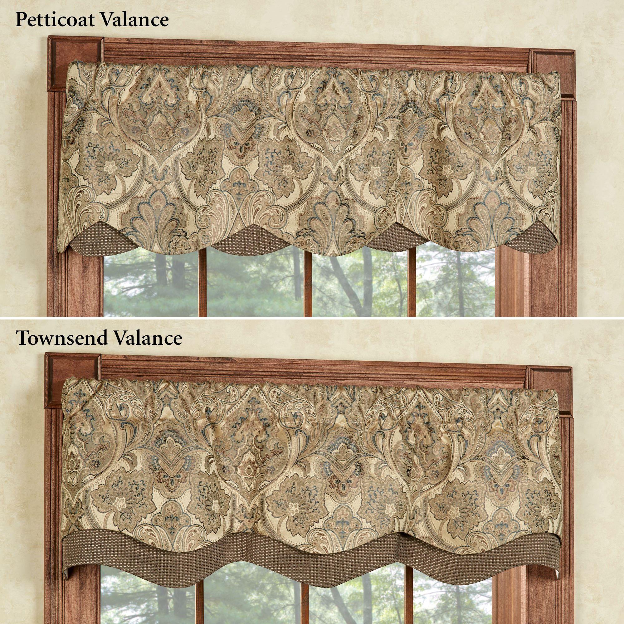 Hollyhock Gold Layered Window Valance Valance Window Treatments