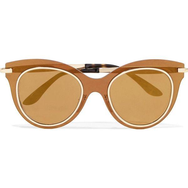 a2517428983d Dolce   Gabbana Cat-eye acetate and gold-tone mirrored sunglasses (910 BRL