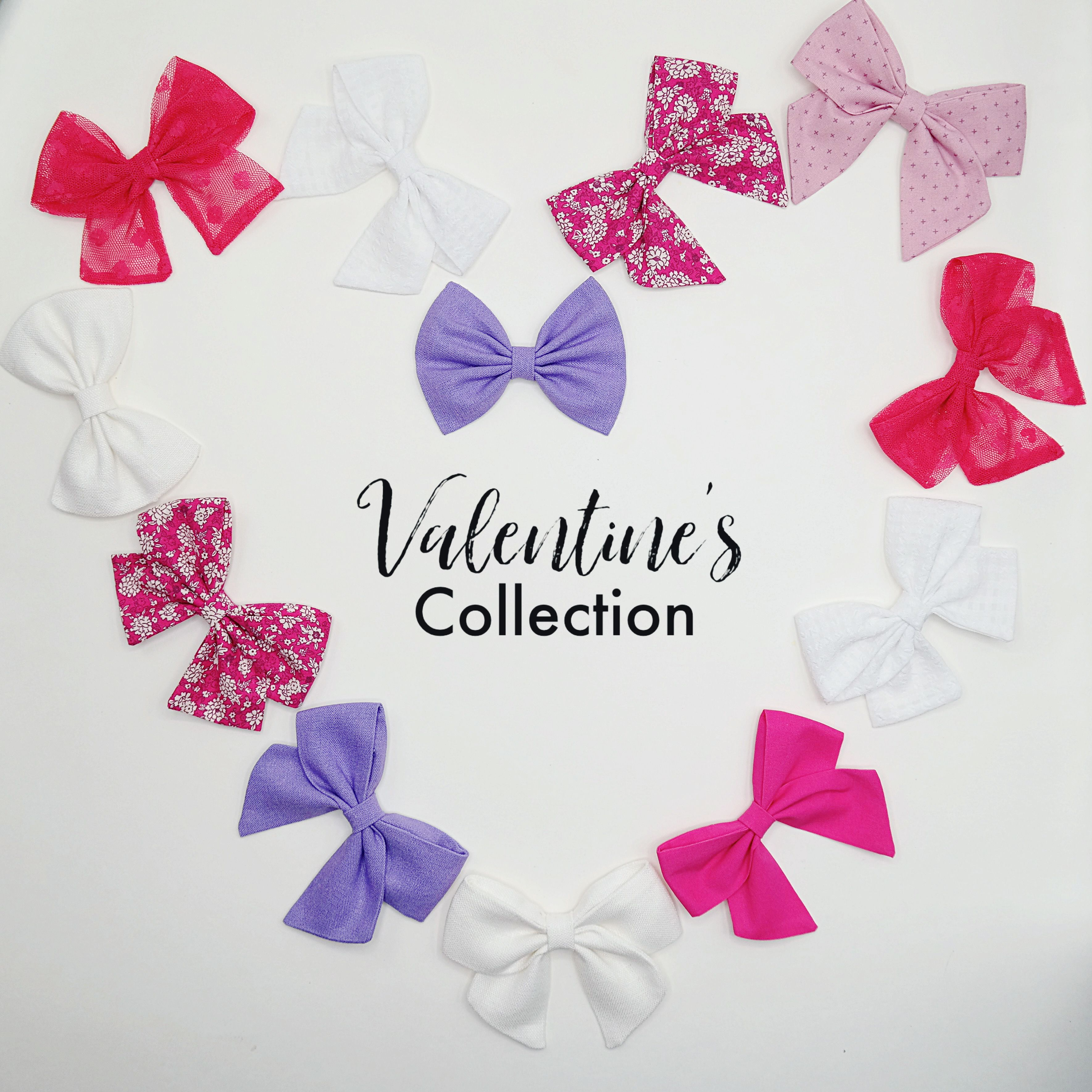 Valentine S Hair Bows In 2020 Valentine Unique Items Products Hair Bows