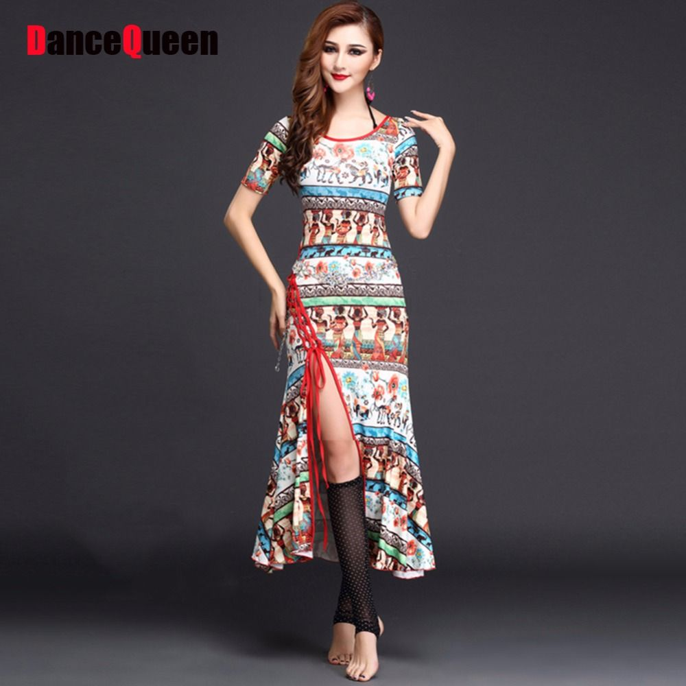 Click to Buy << 2017 New Women Belly Dance Dress Black/Red/Blue ...