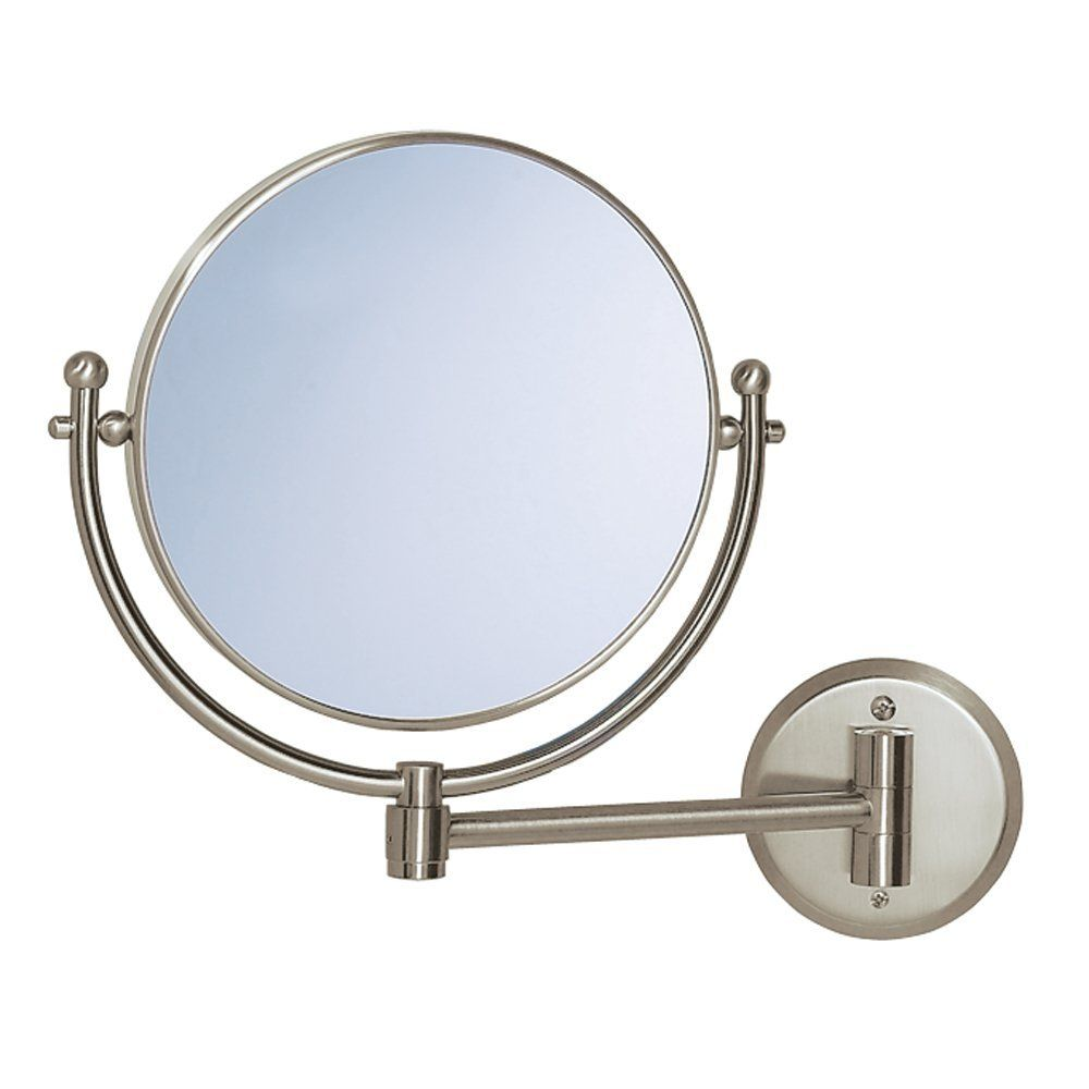 Gatco 1430 Wall Mount Mirror with 9-Inch Swing Arm Extends, Satin ...