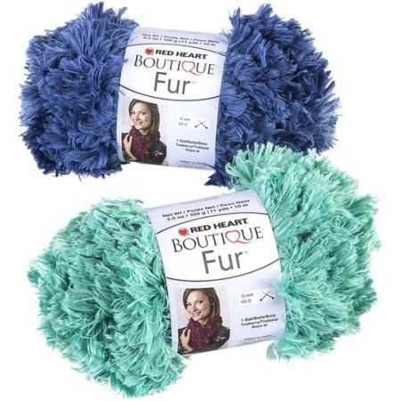 Red Heart Boutique Fur Yarn, Available in Multiple Colors | knitting ...