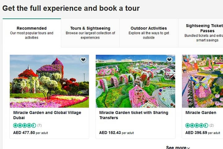 Ticket Instructions for Dubai Miracle Garden Miracle
