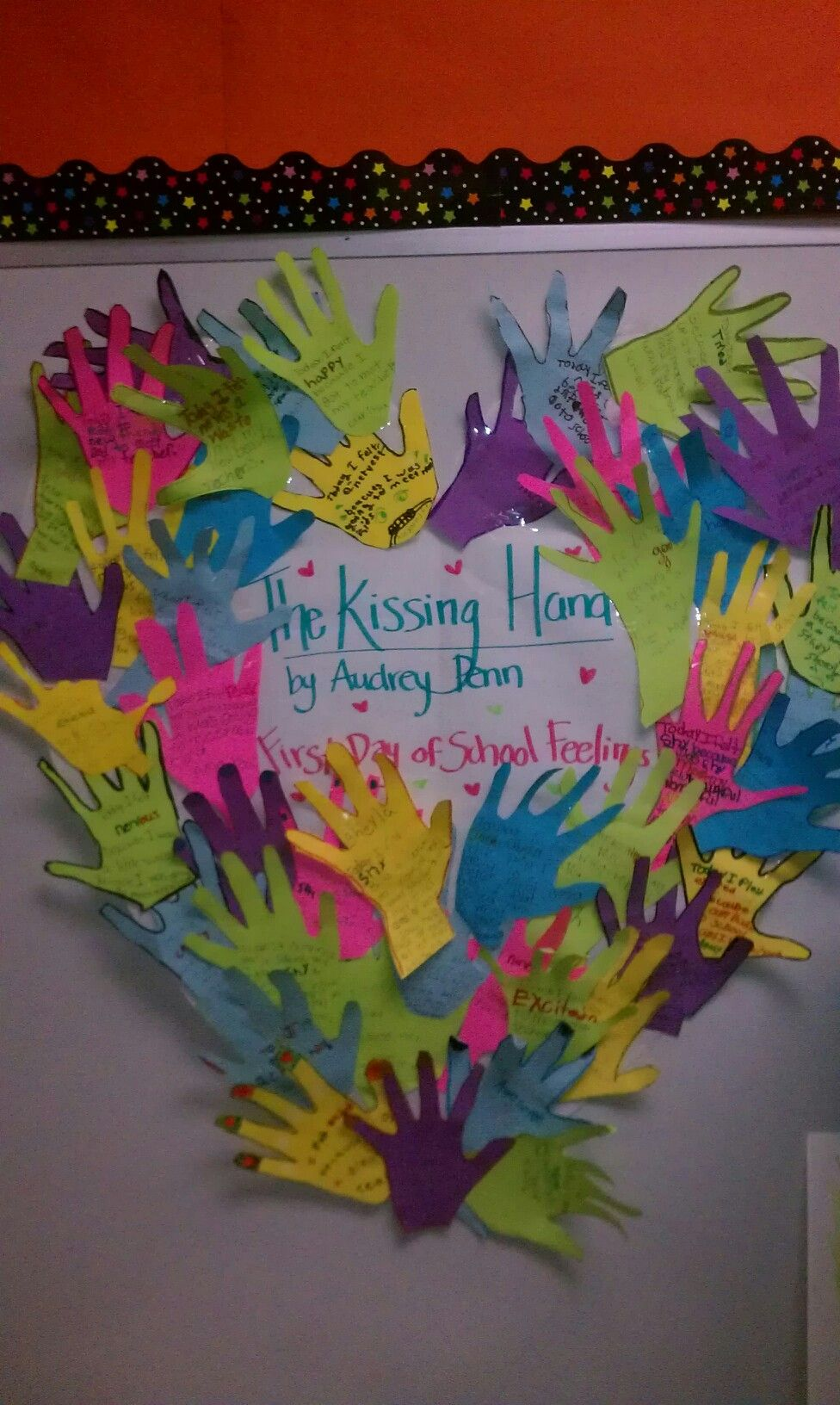 The Kissing Hand Activity Students Write A Feeling They Had The