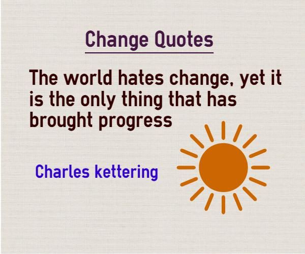 Quotes About Change World Hates Change Future Quotes Change